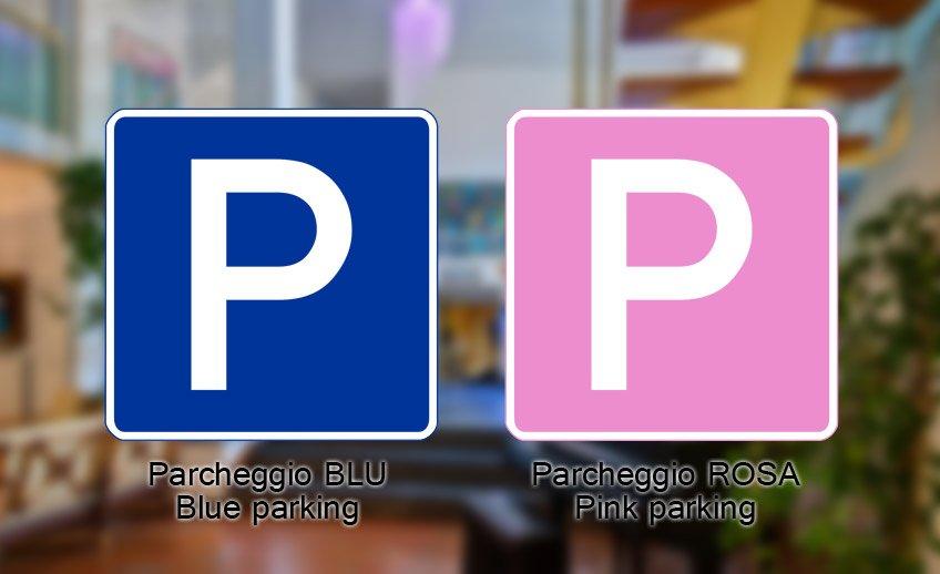 Parcheggio Blu e Rosa